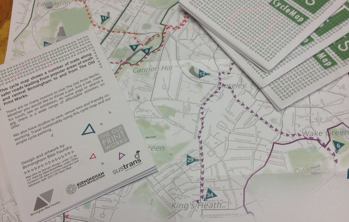 South Birmingham Cycle Maps